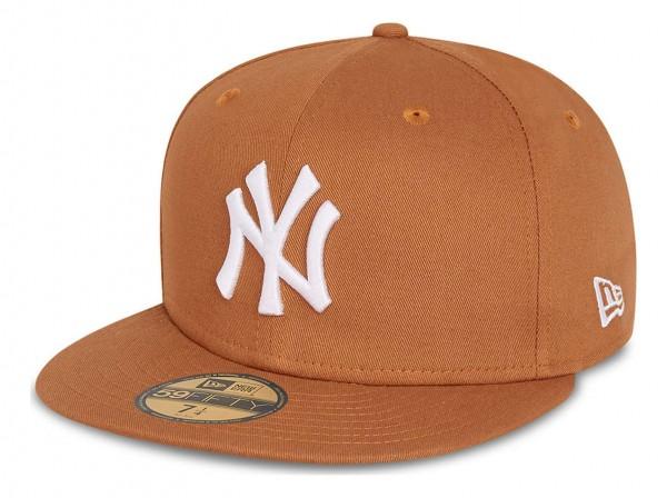 New Era - MLB New York Yankees League Essential 59Fifty Fitted Cap - Orange Ansicht vorne schräg links