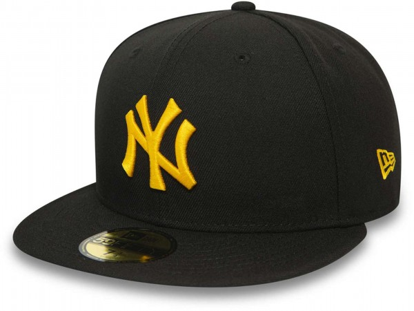 New Era - MLB New York Yankees League Essential 59Fifty Fitted Cap - Schwarz Ansicht vorne schräg links