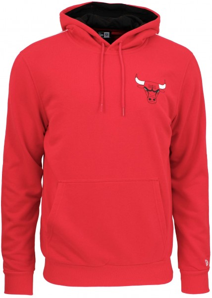 New Era - NBA Chicago Bulls Stripe Piping Hoodie - Rot ansicht vorderseite