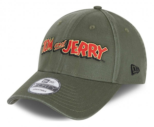 New Era - Tom and Jerry 9Forty Strapback Cap - Grün Ansicht vorne schräg links