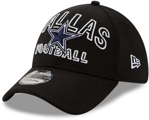 New Era - NFL Dallas Cowboys 2020 Draft Alternative 39Thirty Stretch Cap - Schwarz Ansicht vorne schräg links