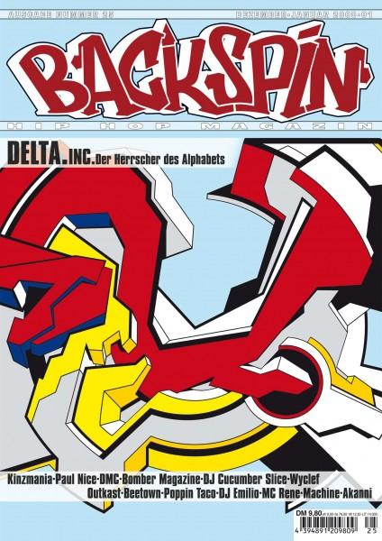 Auf dem Bild ist das Cover zu sehen der BACKSPIN Printausgabe Nummer 25