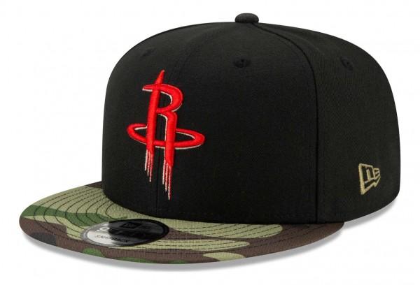 New Era - NBA Houston Rockets ASG Camo 9Fifty Snapback Cap - Schwarz Ansicht vorne schräg rechts