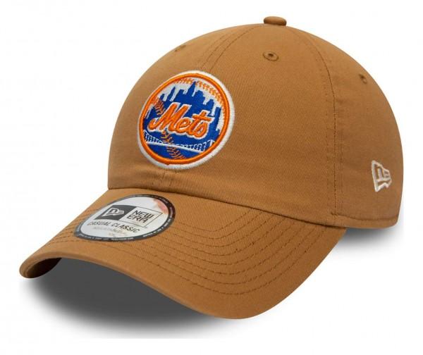 New Era - MLB New York Mets League Essential Casual Classic 9Twenty Strapback Cap - Schwarz Ansicht vorne schräg links