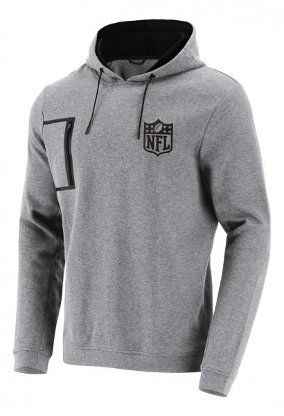 Fanatics - NFL Shield Mono Premium Graphic Hoodie - Grau Vorderansicht