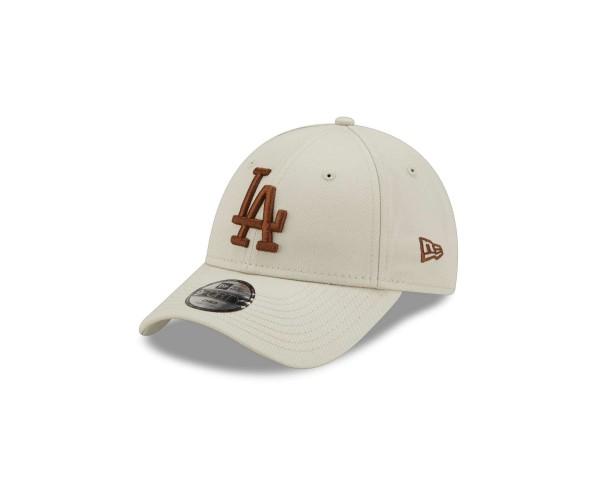 New Era - MLB Los Angeles Dodgers League Essential 9Forty Kids Strapback Cap - Beige Ansicht vorne schräg links