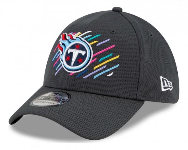 New Era - NFL Tennessee Titans 2021 Crucial Catch 39Thirty - Grau Ansicht vorne schräg links