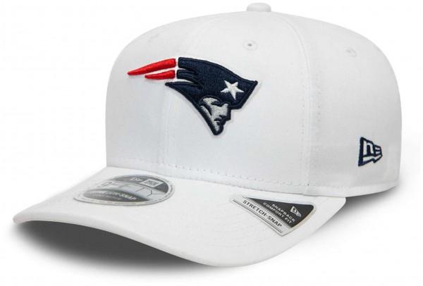 New Era - NFL New England Patriots White Base 9Fifty Snapback Cap - Weiß Ansicht vorne schräg links