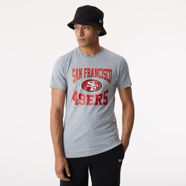 New Era - NFL San Francisco 49ers Team Logo T-Shirt - Grau Vorderansicht