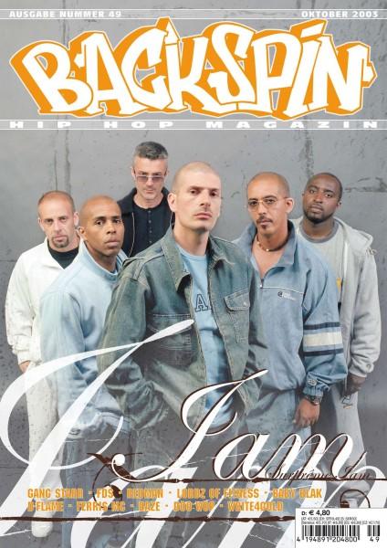 Auf dem Bild ist das Cover zu sehen der BACKSPIN Printausgabe Nummer 49