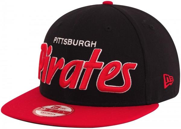 New Era - MLB Pittsburgh Pirates Team Script 9Fifty Snapback Cap - Schwarz-Rot