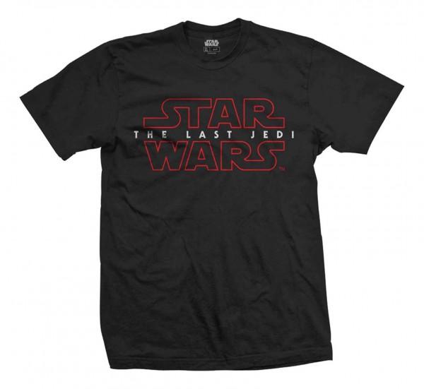 Bravado - Star Wars Episode 8 The Last Jedi Logo T-Shirt - Schwarz Vorderansicht