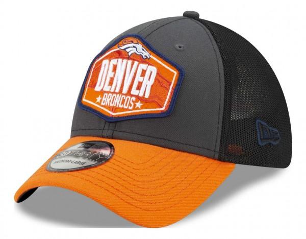 New Era - NFL Denver Broncos 2021 Draft 39Thirty Trucker Stretch Cap - Mehrfarbig Ansicht vorne schräg links