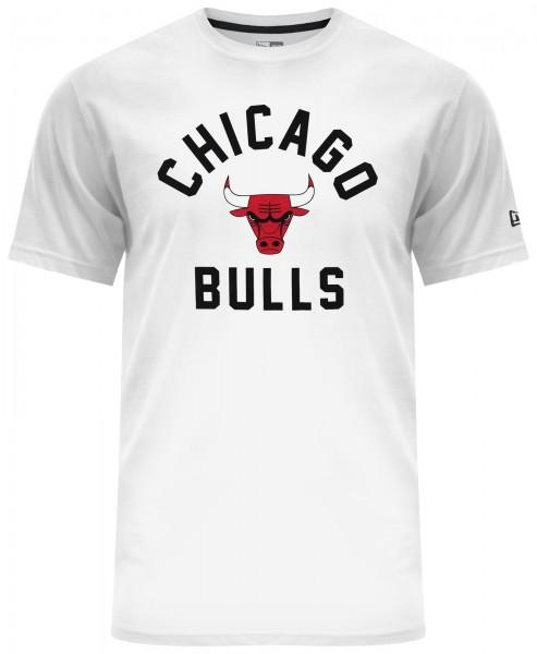 New Era - NBA Chicago Bulls Classic T-Shirt - Weiß Vorderansicht