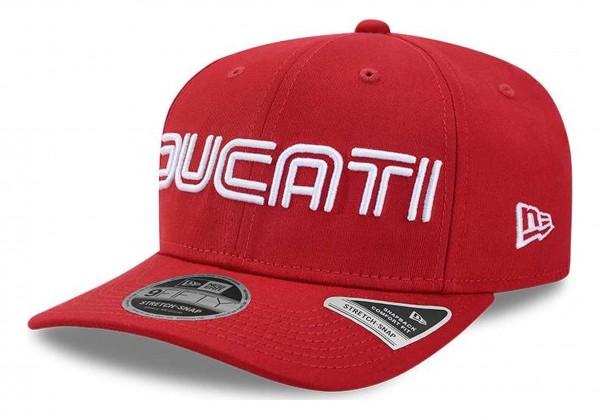 New Era - Ducati Wordmark 9Fifty Stretch Snapback Cap - Rot Ansicht vorne schräg rechts