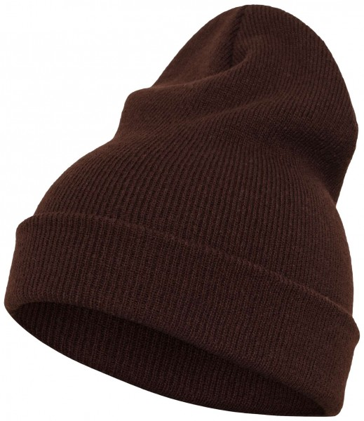 Yupoong Heavy Knit Cuffed Beanie - brown