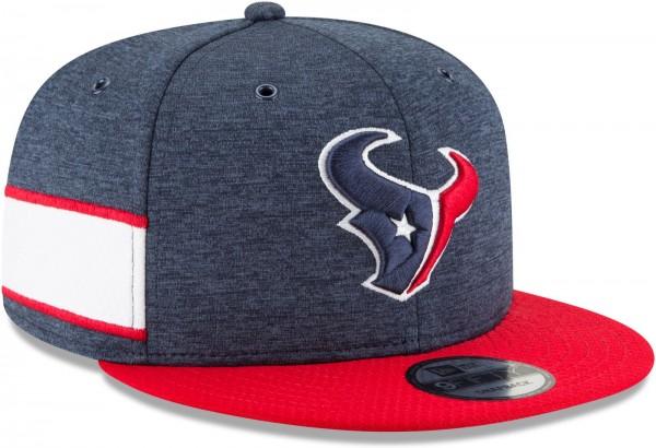 New Era - NFL Houston Texans 2018 Sideline Home 9Fifty Snapback Cap - Blau schräg vorne rechts
