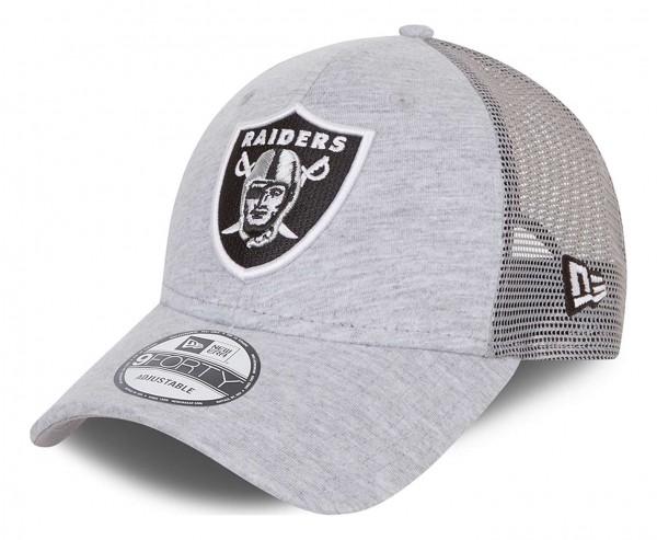 New Era - NFL Las Vegas Raiders Home Field 9Forty Trucker Snapback Cap - Grau Ansicht vorne schräg links