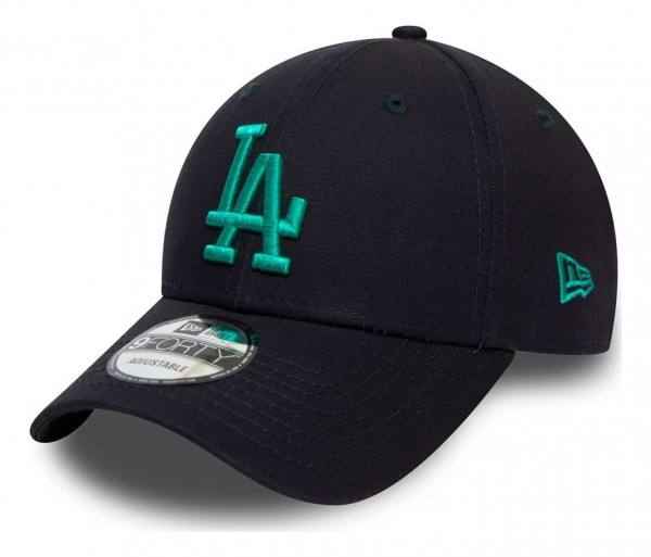 New Era - MLB Los Angeles Dodgers Colour Essential 9Forty Strapback Cap - Blau Ansicht vorne schräg links