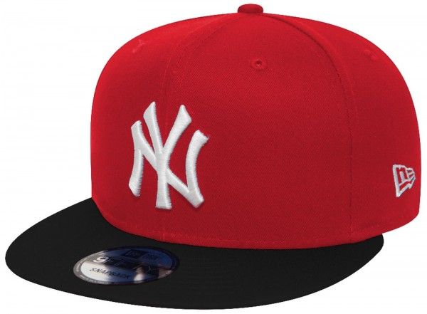 New Era - MLB New York Yankees Cotton Block 9Forty Cap - Rot-Schwarz