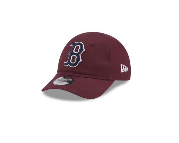 New Era - MLB Boston Red Sox League Essential 9Forty Kids Strapback Cap - Braun Ansicht vorne schräg links