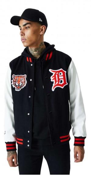 New Era - MLB Detroit Tigers Cooperstown Jacke - Schwarz Vorderansicht