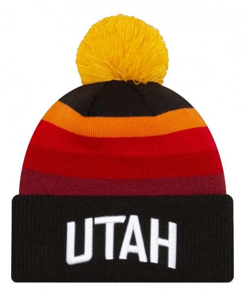 New Era - NBA Utah Jazz 2020 City Series Official Knit Bobble Beanie - Mehrfarbig Vorderansicht