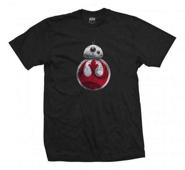 Bravado - Star Wars Episode 8 BB-8 Resistance T-Shirt - Schwarz Vorderansicht
