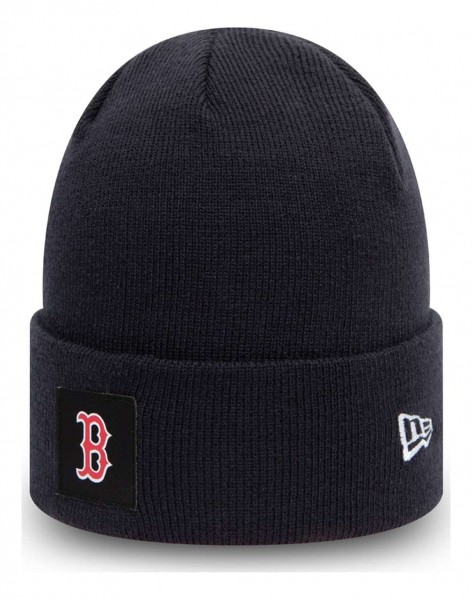 New Era - MLB Boston Red Sox Team Cuff Beanie - Blau Ansicht vorne schräg links