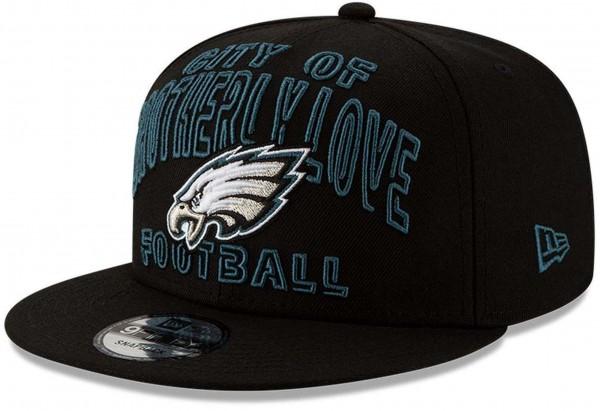New Era - NFL Philadelphia Eagles 2020 Draft Alternative 9Fifty Snapback Cap - Schwarz Ansicht vorne schräg links