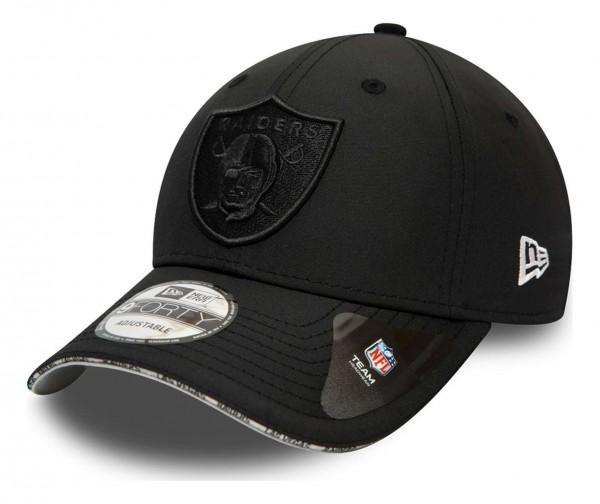 New Era - NFL Las Vegas Raiders Pipe Pop 9Forty Strapback Cap - Beige Ansicht vorne schräg links
