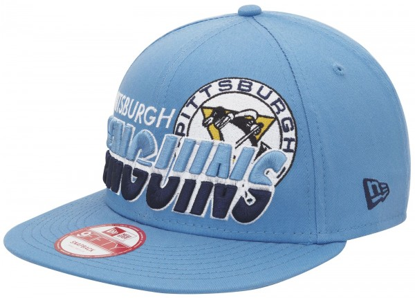 New Era - NHL Pittsburgh Penguins Team Horizon 9Fifty Snapback Cap - Blau