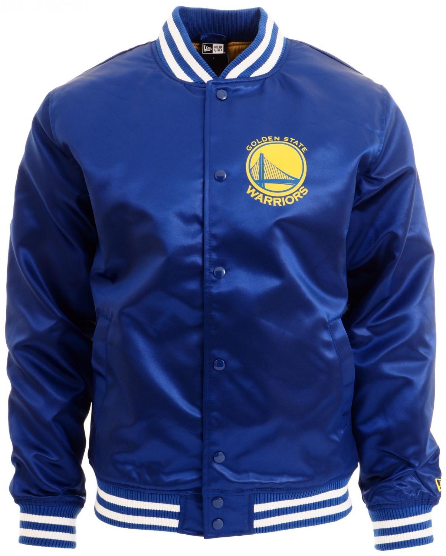 f1498b31a New Era - NBA Golden State Warriors Tip Off Sateen Bomber Jacke - blue