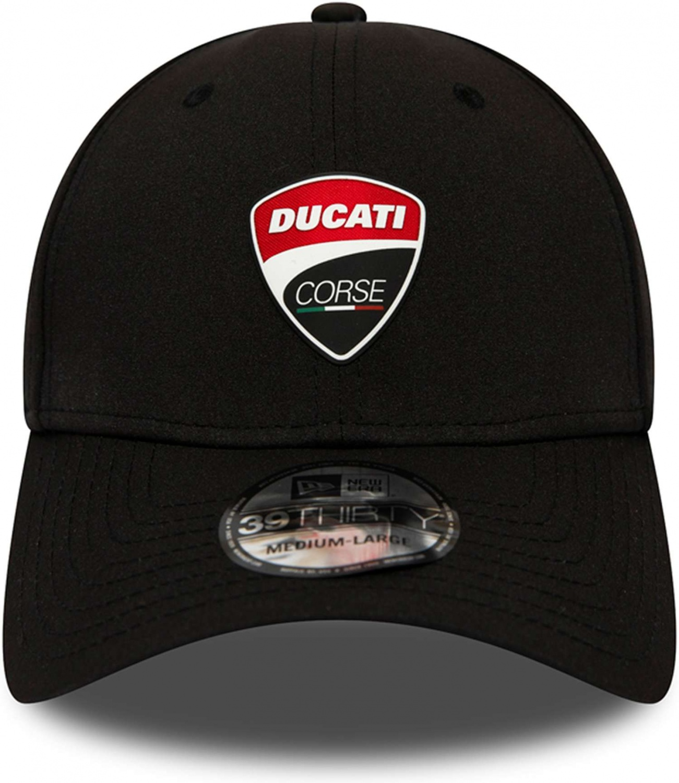 Schwarz New Era Ducati Corse FA19 39Thirty Stretch Cap